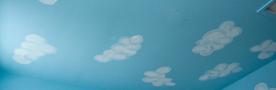 Paint Clouds on ceiling and walls